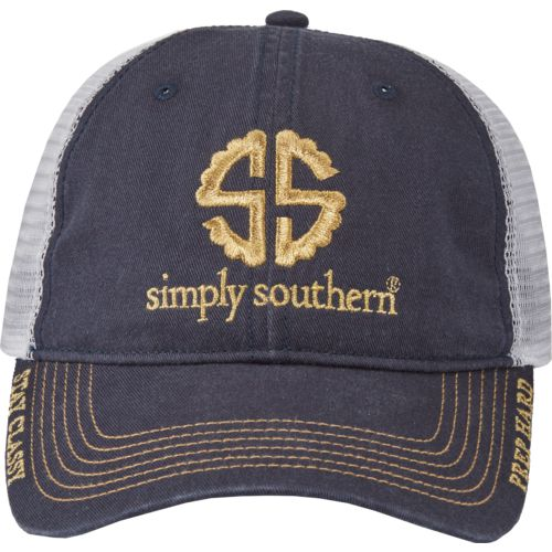 Simply Southern Women's Scalloped Foil Pop Logo Cap