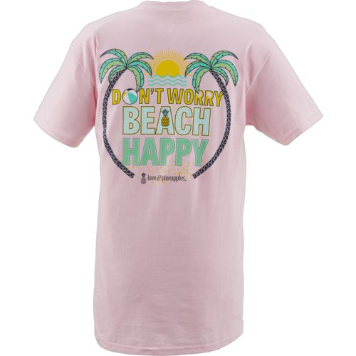 Love & Pineapples Women's Don't Worry Beach Happy T-shirt - view number 3