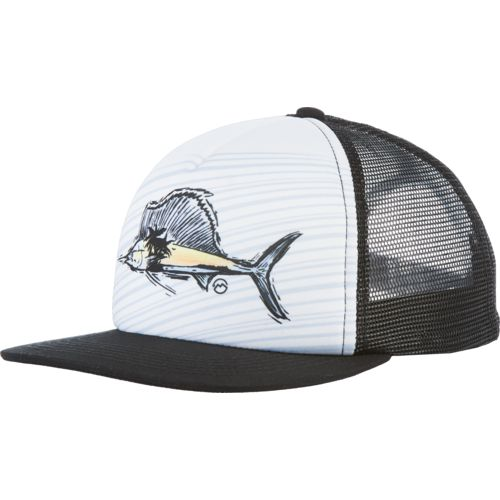 Magellan Outdoors Striped Sailfish Foam Trucker Cap