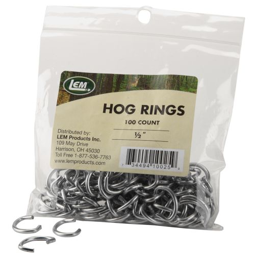 LEM 1/2' Hog Rings 100-Pack