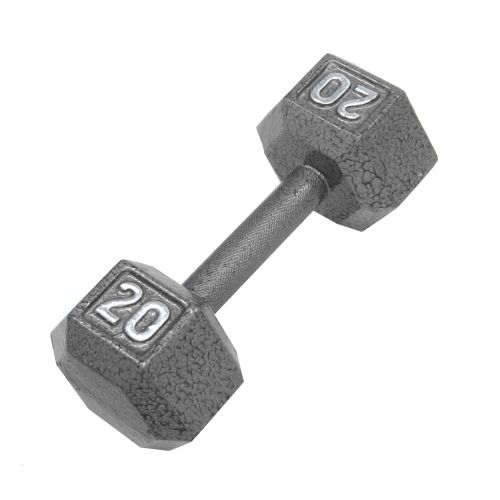 CAP Barbell 20 lb. Solid Hex Dumbbells