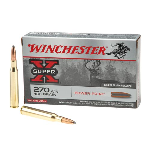 Winchester Super-X Power-Point .270 Winchester 130-Grain Rifle Ammunition