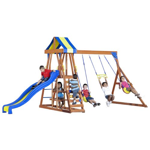Backyard Discovery™ Yukon III Wooden Swing Set