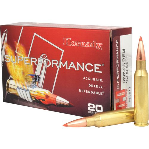 Hornady Superformance® SST® 7mm-08 Rem 139-Grain Rifle Ammunition