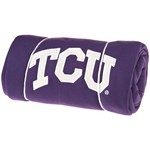 Logo Texas Christian University Sweatshirt Blanket