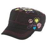 BCG™ Girls' Heart Peace Cadet Hat