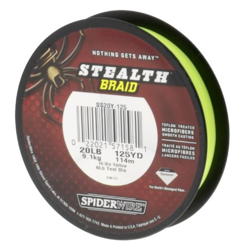 Image for Spiderwire® Stealth™ 20 lb. - 125 yds. Braided Fishing Line from Academy