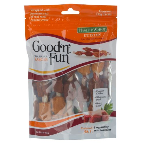 Display product reviews for Salix Healthy Hide Good 'n' Fun Triple Flavor Twist Kabobs