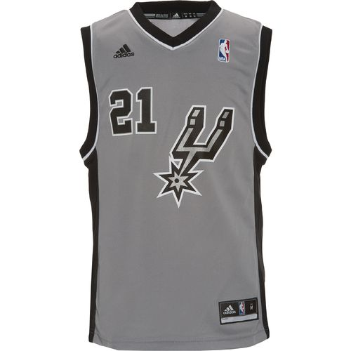 adidas™ Boys' San Antonio Spurs Tim Duncan #21 Revolution 30 Replica Alternate Jersey