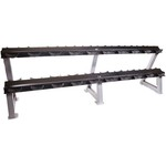 "CAP Barbell 95"" 2-Tier Dumbbell Rack with Saddles"