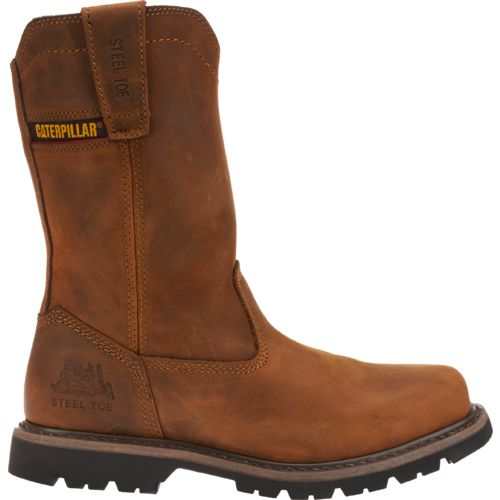 Cat Footwear Men's Square Toe Wellington Work Boots