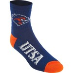 For Bare Feet Men's University of Texas at San Antonio 501 Quarter Socks