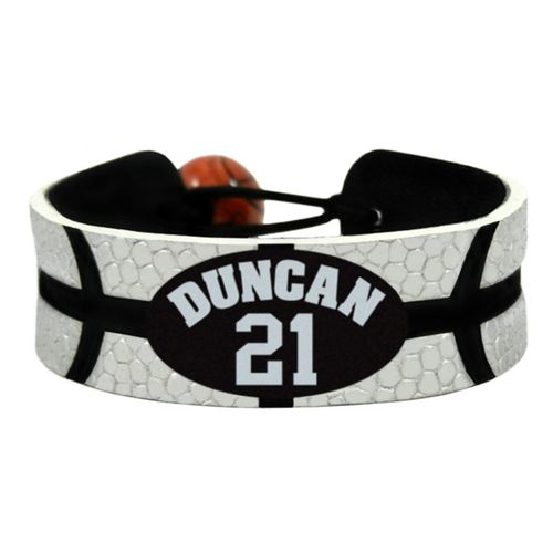 GameWear San Antonio Spurs Tim Duncan #21 Team Color NBA Jersey Bracelet