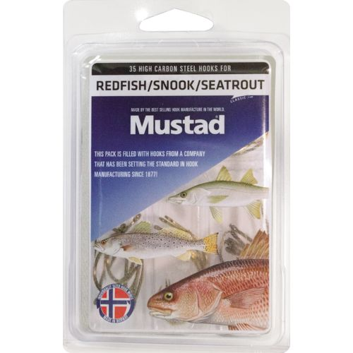 Mustad Assorted Redfish, Seatrout and Snook Assist Hooks 35-Pack
