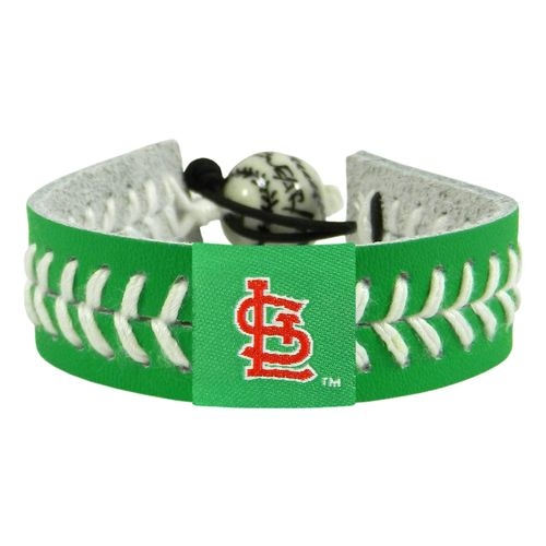 GameWear Adults' St. Louis Cardinals St. Patrick's Day Baseball Bracelet