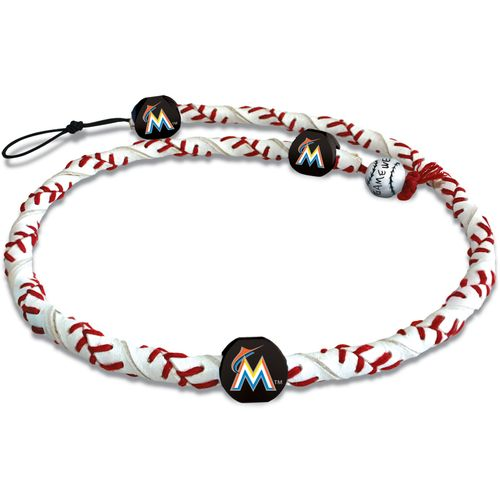 GameWear Miami Marlins Classic Frozen Rope Baseball Necklace
