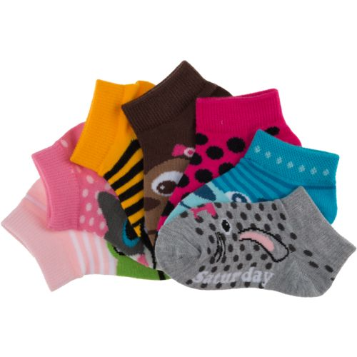 BCG  Girls  DOW Critter Face Low Cut Socks 7-Pack
