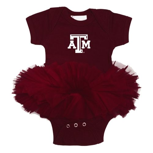 Two Feet Ahead Infant Girls' Texas A&M University Tutu Creeper