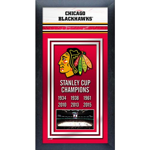 Photo File Chicago Blackhawks Framed Stanley Cup Championship Banner