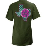 Three Squared Juniors' Baylor University Quatrefoil State Monogram T-shirt