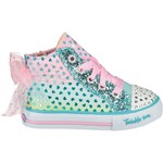 SKECHERS Girls' Twinkle Toes Shuffles Pixie Bunch High Top Athletic Lifestyle Shoes