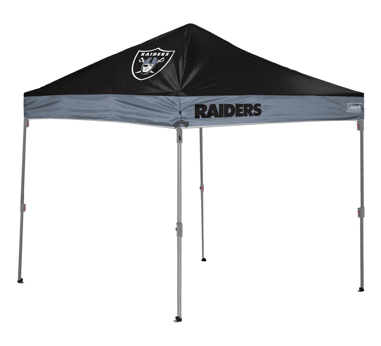 Coleman® Oakland Raiders 10' x 10' Straight-Leg Canopy