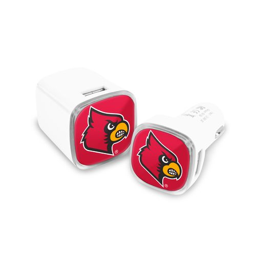 Mizco University of Louisville USB Chargers 2-Pack