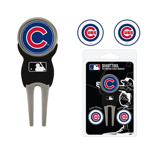 Team Golf Chicago Cubs Divot Tool and Ball Marker Set