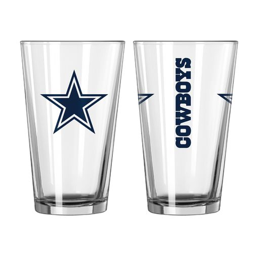 Boelter Brands Dallas Cowboys Game Day 16 oz. Pint Glasses 2-Pack
