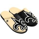 Team Beans Men's New Orleans Saints Split-Color Slide Slippers