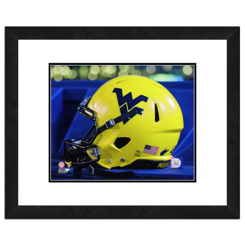 Photo File West Virginia University Helmet 16' x 20' Matted and Framed Photo