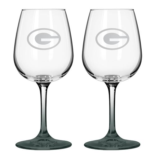 Boelter Brands Green Bay Packers 12 oz. Wine Glasses 2-Pack