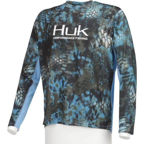Huk Men's Kryptek Icon Long Sleeve T-shirt - view number 3