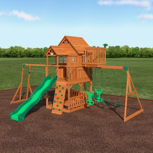 Backyard Discovery™ Skyfort II Wooden Swing Set - view number 7