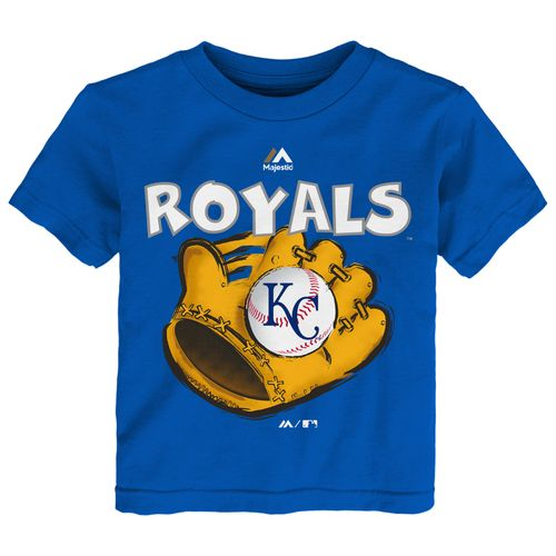 Majestic Toddler Boys' Kansas City Royals Baseball Mitt Short Sleeve T-shirt