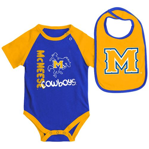 Colosseum Athletics Infants' McNeese State University Rookie Onesie and Bib Set