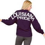 Above Wings Women's Wing Back Louisiana Pride Long Sleeve Shirt - view number 3