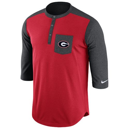 Nike Men's University of Georgia Dri-FIT Touch Henley