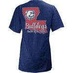 Three Squared Juniors' Louisiana Tech University State Monogram Anchor T-shirt