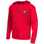 Colosseum Athletics™ Boys' University of Georgia Sleet 1/4 Zip Hoodie Windshirt