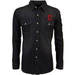 Antigua Men's Cleveland Indians Long Sleeve Button Down Chambray Shirt - view number 1