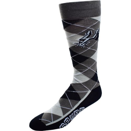 FBF Originals Men's San Antonio Spurs Argyle Zoom Dress Socks