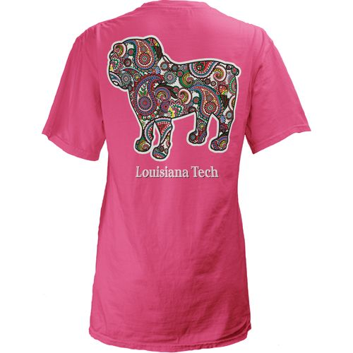 Three Squared Juniors' Louisiana Tech University Preppy Paisley T-shirt