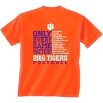 New World Graphics Men's Clemson University Schedule T-shirt
