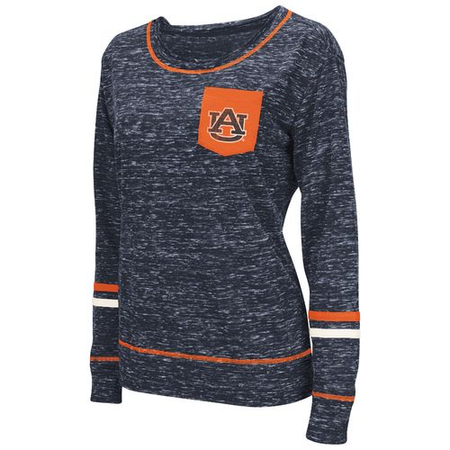 Colosseum Athletics™ Women's Auburn University Homies Raw Edge Pocket T-shirt
