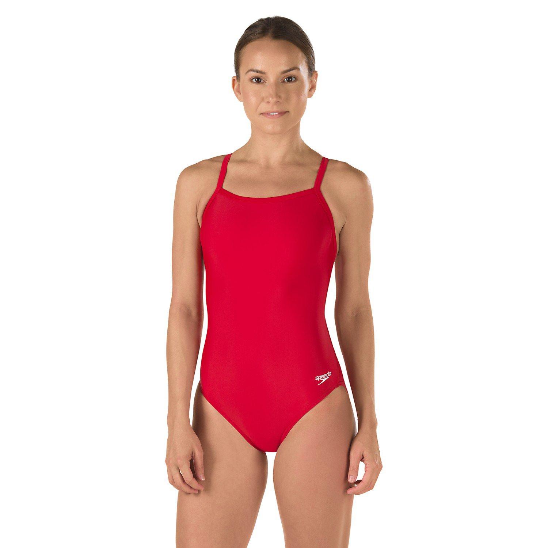 Speedo Women's PowerFLEX ECO Solid Flyback 1-Piece Swimsuit