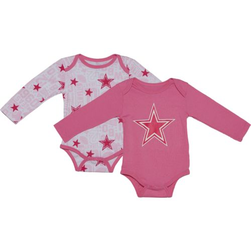 Dallas Cowboys Infants' Beni Long Sleeve Bodysuits 2-Pack