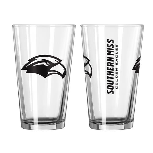 Boelter Brands University of Southern Mississippi Game Day 16 oz. Pint Glasses 2-Pack
