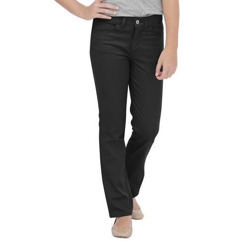 Dickies Girls' Skinny Fit Straight Leg 5-Pocket Stretch Twill Pant
