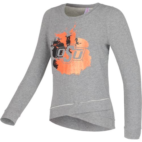Colosseum Athletics™ Girls' Oklahoma State University Alaia Long Sleeve Pullover